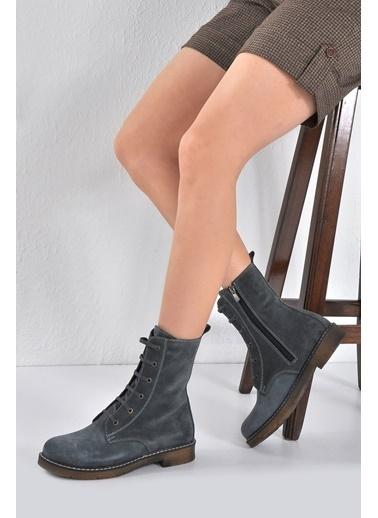 Vizon Ayakkabı Bot Mavi